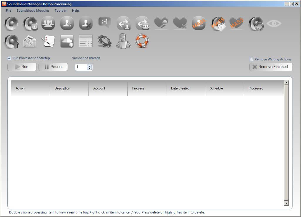 Soundcloud Manager - Features